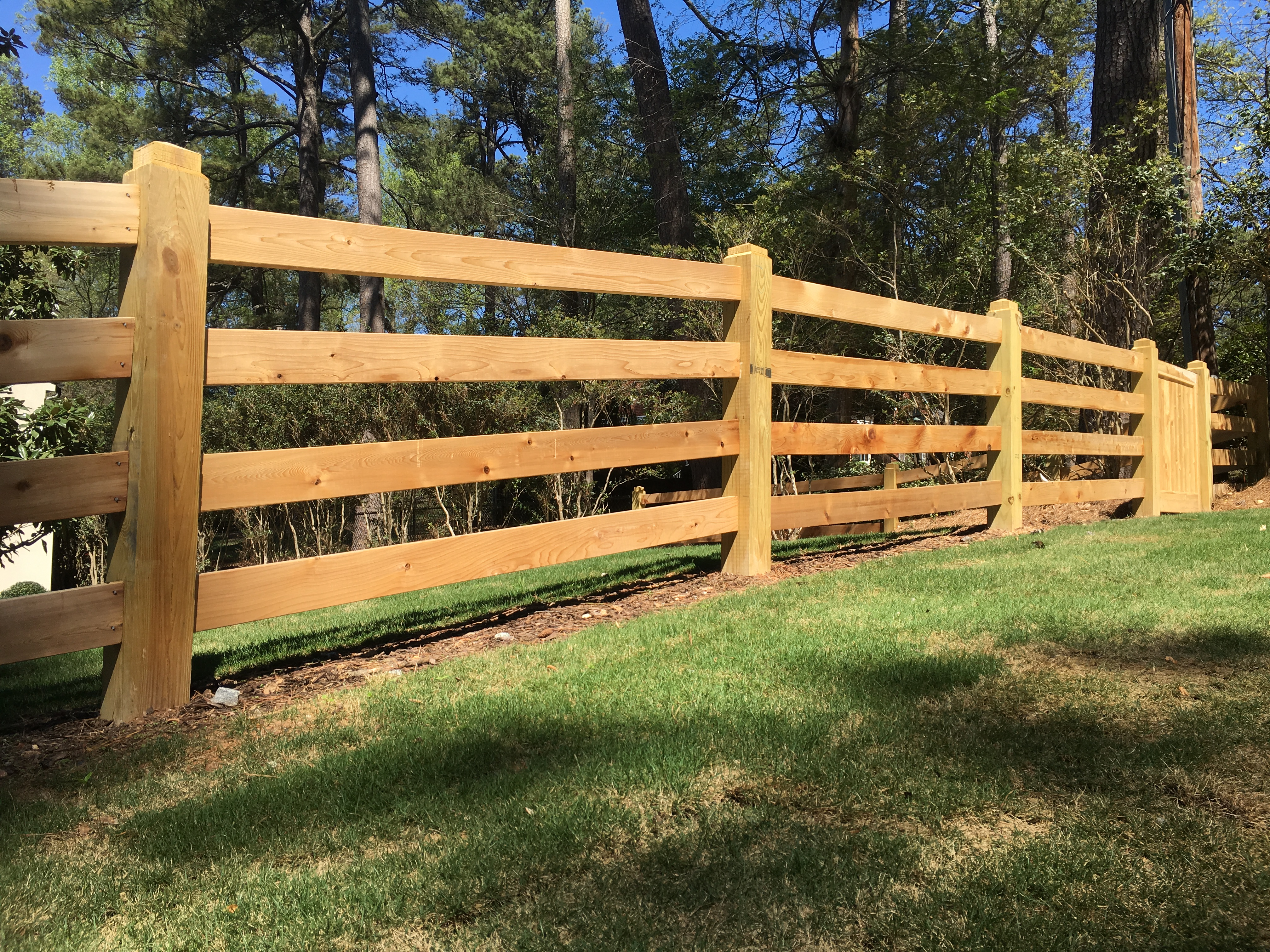 Custom Cedar Gate and Fencing at Buckhead Estate Allied Fence