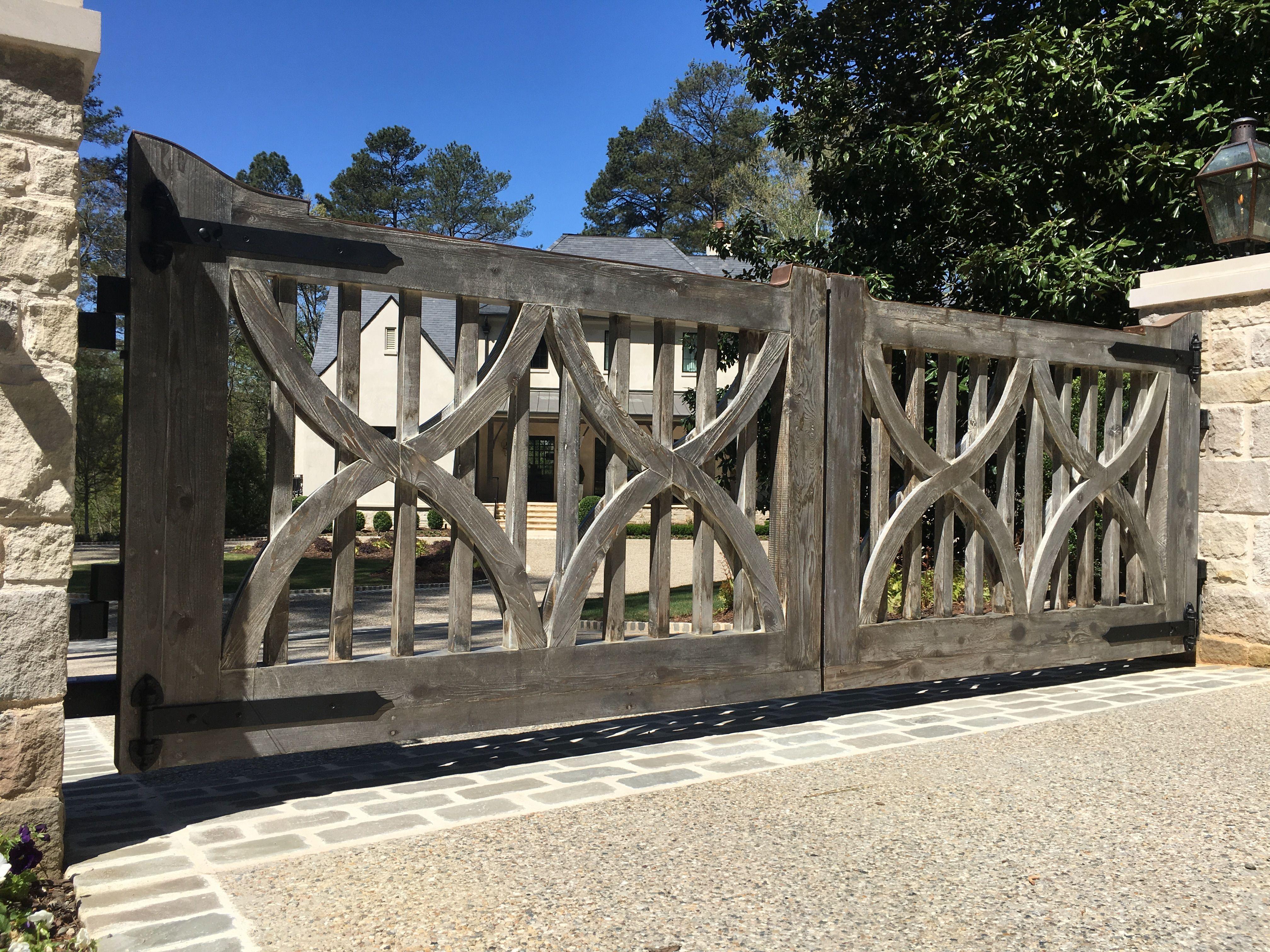 Custom Cedar Gate And Fencing At Buckhead Estate Allied