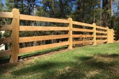 Custom Cedar Rail Fencing