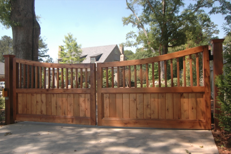Custom cedar fence gate designs allied