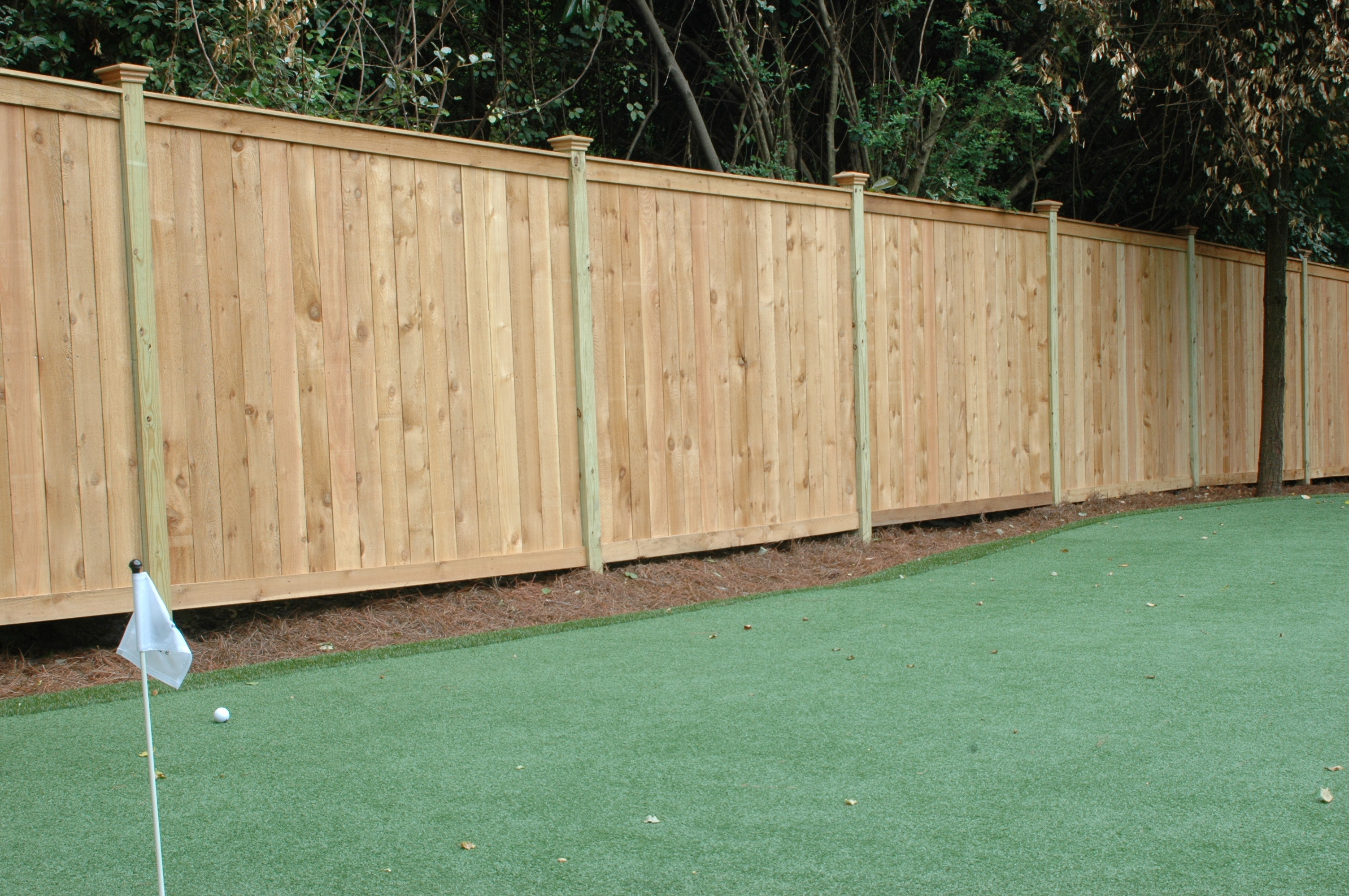 Standard cedar fence designs allied