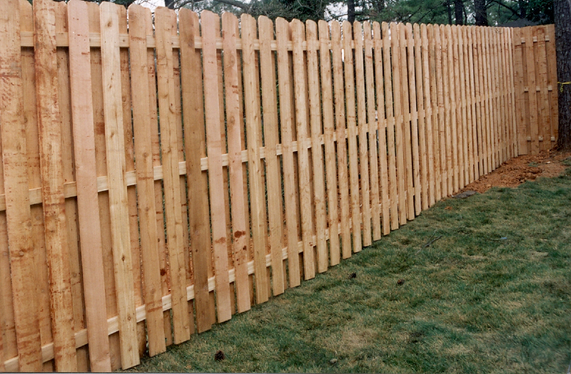 Shadowbox Cedar Privacy Fence