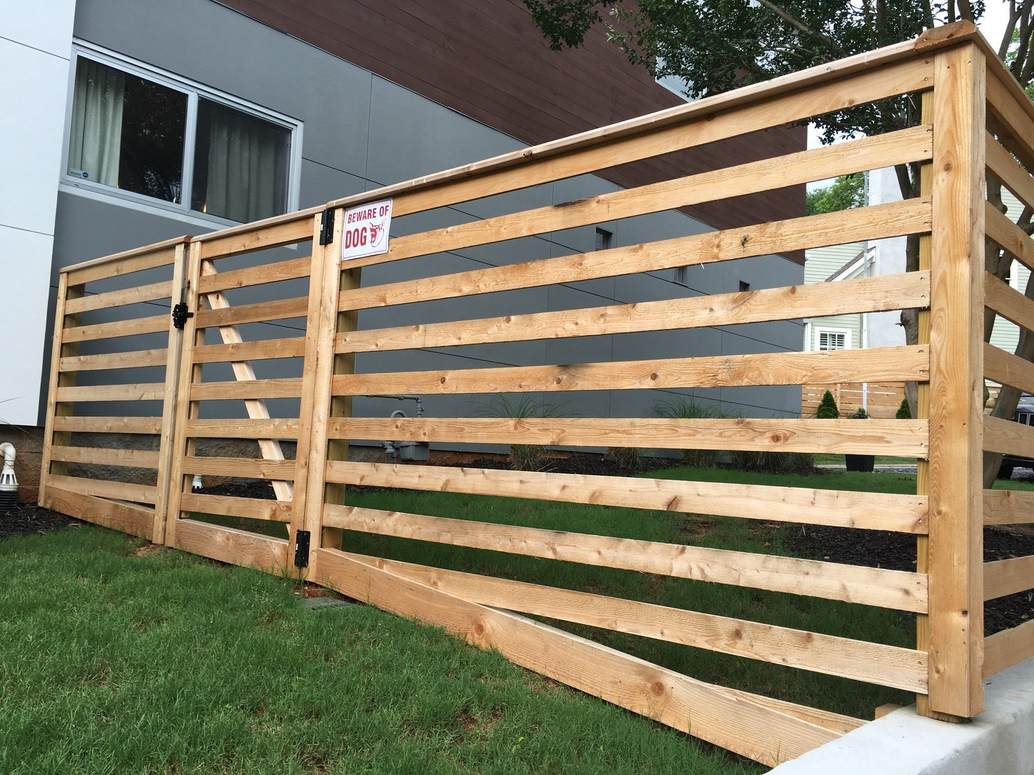 Custom Cedar Board Fencing