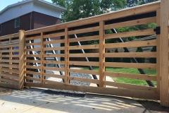 Horizontal Cedar Cantilever Gate