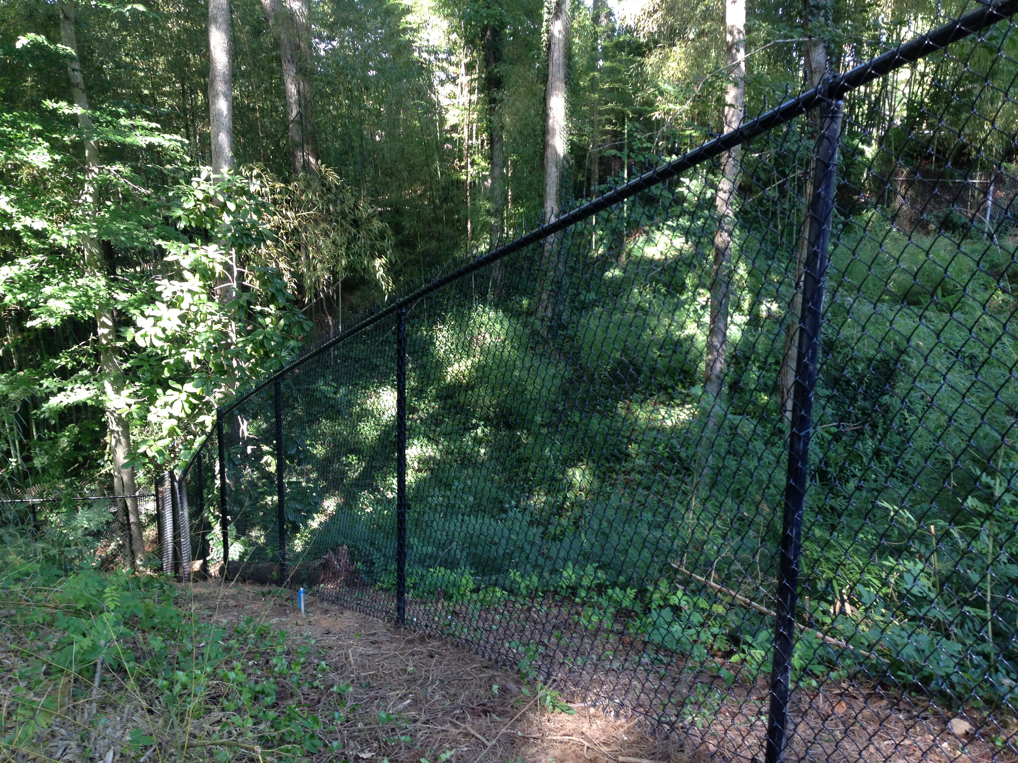 Brown Vinyl Chain Link Fence Intended Black Vinyl Chain Link Fencing Fences Allied Fence