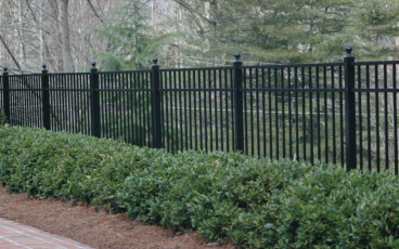Allience Aluminum Fencing - Eve with Ball Cap Posts