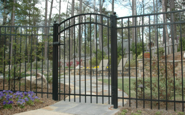 Allience Aluminum Gate - Eve - Arched
