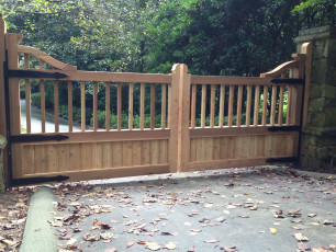 Customized Cedar Gate