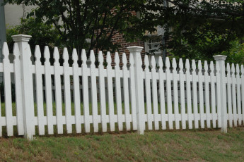 White Virginia Picket Fence