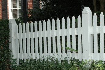 Pointed Top Picket Fence