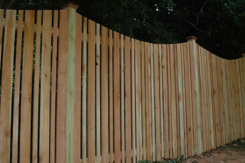 Negative Scallop Cedar Semi Private Fence