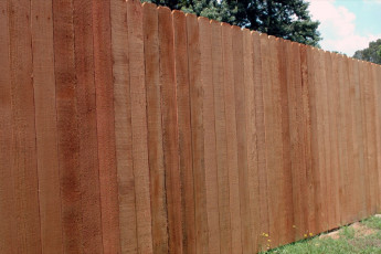 Notched Top Cedar Privacy Fence