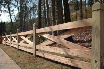 Cross Rail Cedar Fencing