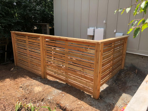 Spaced Horizontal Fence