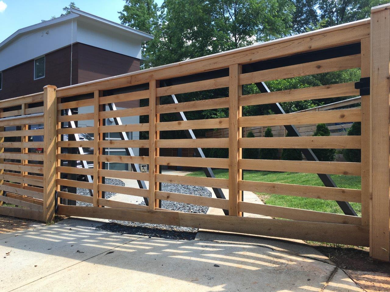 Custom Horizontal Cedar Fencing For Ormewood Park Home